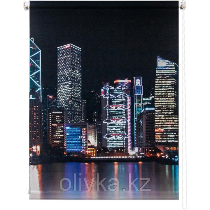 Рулонная штора «Сити ночь», 80 х 175 см