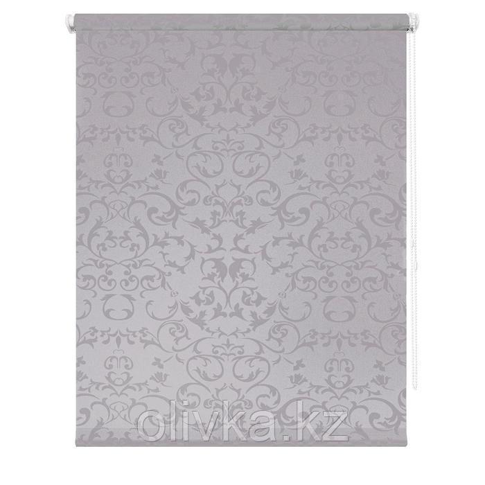 Рулонная штора «Дельфы», 100 х 175 см, цвет серый