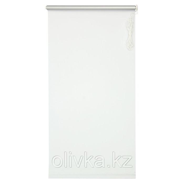 Штора рулонная 140 х 175 см «Сильвер», эффект Blackout, цвет белый