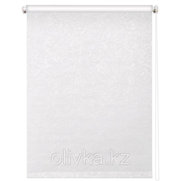 Рулонная штора блэкаут «Фрост», 200 х 175 см, цвет белый