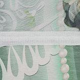 Тюль Аквамарин 147х267 +/- 3см, 2шт, шифон, п/э, фото 4