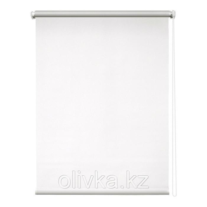 Рулонная штора блэкаут «Сильвер», 67 х 175 см, цвет белый