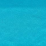 """Штора портьерная """"Этель"""" 135х260 см, цвет ярко голубой, сатен.100% п/э, фото 3"""