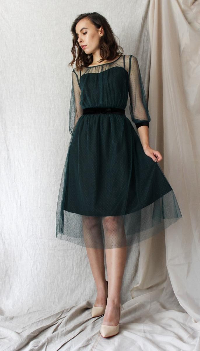 Платье Prestige-3561, зеленый, 42
