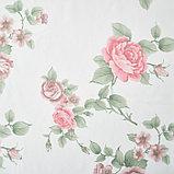 Штора вуаль печать роза 140х145 см, цвет красный, фото 2