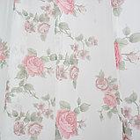 Штора вуаль печать роза 140х145 см, цвет красный, фото 4
