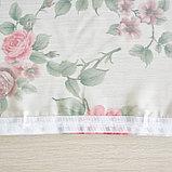 Штора вуаль печать роза 140х145 см, цвет красный, фото 6