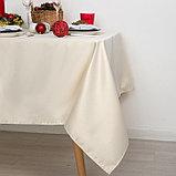 Скатерть Доляна «Пудра» цвет золотой, 150×280 см, 115 ± 10 г/м², 100% п/э, фото 4