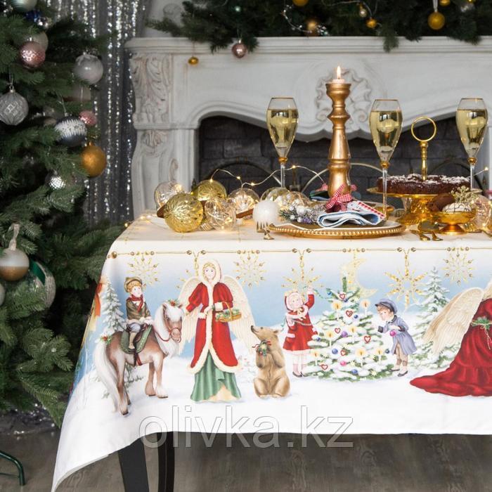 """Скатерть Этель """"Christmas time"""" 150х110см +/-3см с ГМВО, хл100%"""