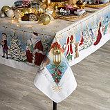 """Скатерть Этель """"Christmas time"""" 150х110см +/-3см с ГМВО, хл100%, фото 2"""