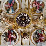 """Скатерть Этель """"Christmas time"""" 150х110см +/-3см с ГМВО, хл100%, фото 4"""