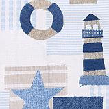 Портьера Крошка Я «Морской стиль» без держателя цвет синий, 110×260 см, блэкаут, 100% п/э, фото 2
