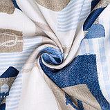 Портьера Крошка Я «Морской стиль» без держателя цвет синий, 110×260 см, блэкаут, 100% п/э, фото 3