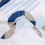 Портьера Крошка Я «Морской стиль» без держателя цвет синий, 110×260 см, блэкаут, 100% п/э, фото 4