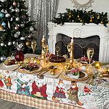"""Скатерть Этель """"Winter holidays""""150х110см +/-3см с ГМВО, хл100%, фото 3"""