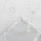 Скатерть Доляна «Серебряные снежинки» цвет белый, 110×150 см, 115 ± 10 г/м², 100% п/э, фото 6