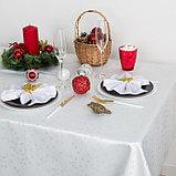 Скатерть Доляна «Звёзды», цвет белый, 110х150 см, полиэстер, 115 ±10 гр/м2, фото 2