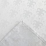 Скатерть Доляна «Серебряные ёлочки» цвет белый, 110×150 см, 115 ± 10 г/м², 100% п/э, фото 6