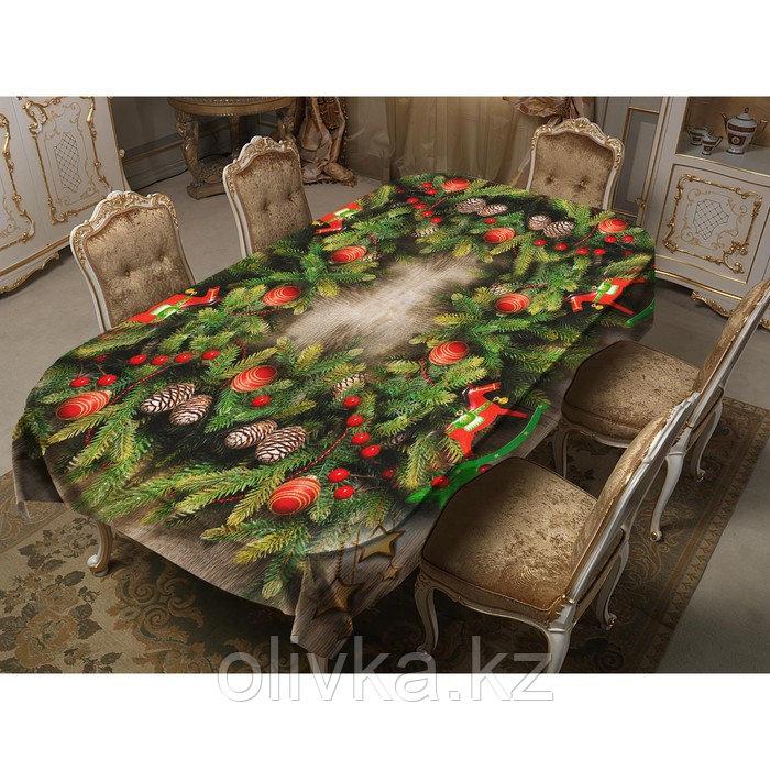 Скатерть Запах хвои 150х220 см, габардин, 100% п/э, 150гр/м2