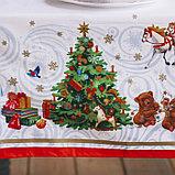 """Скатерть """"Этель"""" Новогодняя сказка 150х180 см, 100% хл, саржа 190 гр/м2, фото 3"""