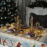 """Скатерть Этель """"Christmas time"""" 150х185см +/-3см с ГМВО, хл100%, фото 3"""