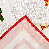 """Набор столовый Этель """"Рождественский бал"""" скатерть 220*150 см, салфетки 40*40 см 12 шт, хлопок 100%, фото 8"""