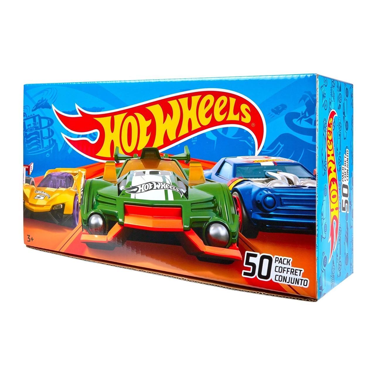 Hot Wheels Огромный набор из 50 машинок в непрозрачной упаковке