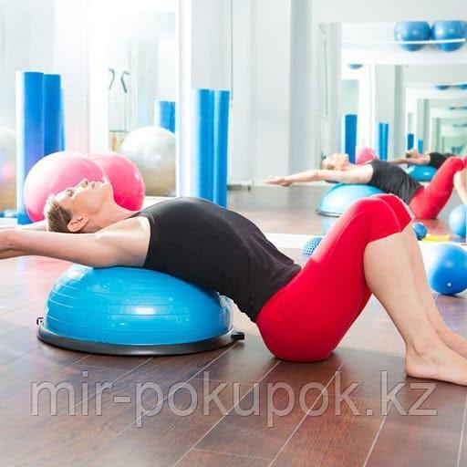 Балансировочная платформа BOSU ball с ручками для фитнеса и пилатеса (в наличие:гладкие и с шипами)