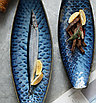 Сервировочная тарелка-лодочка с текстурой чешуи 41см, фото 2
