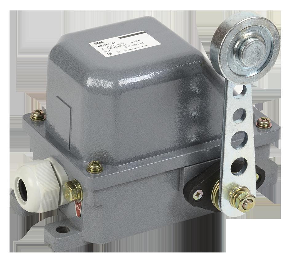 Выключатель концевой КУ-701 У2, рычаг с роликом, 10А, IP44, 2 эл. цепи (ЭТ)