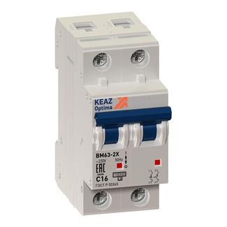Выключатель автоматический модульный OptiDin ВМ63-2B2-УХЛ3 (Новый) КЭАЗ