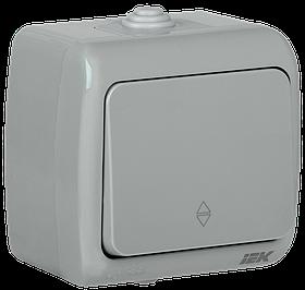 Выключатель ВС-20-1-2-A 1-клавишный для открытой установки проходной 10А IP54 AQUATIC ИЭК