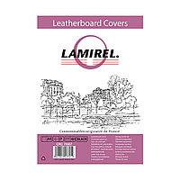Обложки Lamirel Delta A4 LA-78687, картонные, с тиснением под кожу , цвет: черный, 230г/м?, 100шт