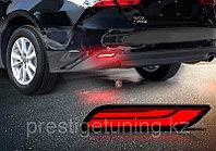 Диодовые вставки (катафоты) красные в задний бампер Camry 70 2018-
