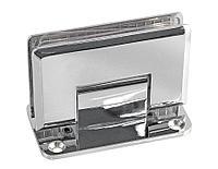 Петля стена-стекло центральное крепление монтажной пластины | Цинк/ Хром