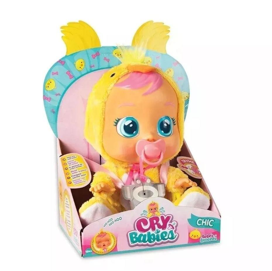 Кукла плачущий младенец CRYBABIES Chic