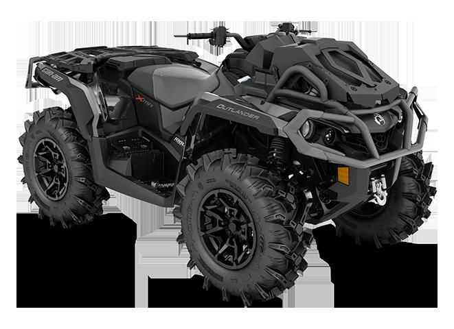 Квадроцикл BRP Can-Am Outlander XMR 1000 R 1000 Серебристо-черный 2020 INT