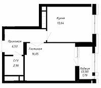 1 комнатная квартира в ЖК OnlySunMoon 41.9 м², фото 1