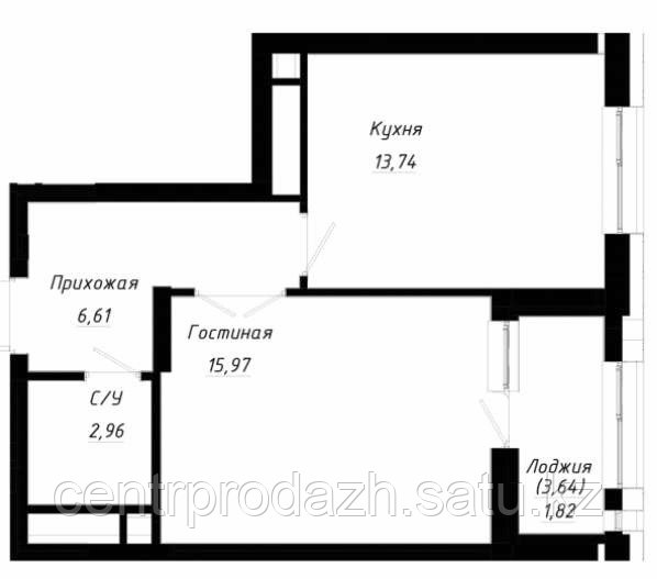 1 комнатная квартира в ЖК OnlySunMoon 42 м²