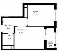1 комнатная квартира в ЖК OnlySunMoon 42 м², фото 1