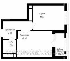 1 комнатная квартира в ЖК OnlySun42 м²
