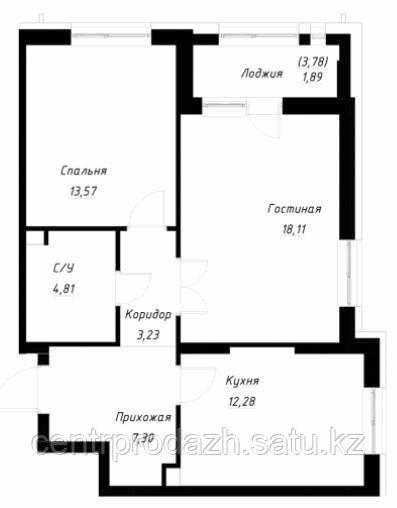 3 комнатная квартира в ЖК OnlySun86.6 м²