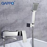 Смеситель ванна-душевой GAPPO с изливом, который служит переключателем на лейку в корпусе хром, G3207, фото 1