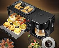 Автоматическая машина для завтрака, машина для горячего хлеба, многофункциональная мини-духовка, кофемашина