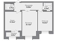 2 комнатная квартира в ЖК CrocusCity 75.38 м², фото 1