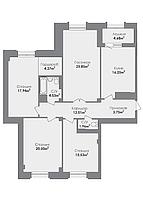 4 комнатная квартира в ЖК Crocus City 126.31 м², фото 1