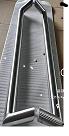Дверная ручка для стеклянных и алюминиевых дверей,1000*32*1,SS304, Матовый