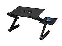 Стол для ноутбука с охлаждением с подставкой для мышки Laptop table T8, фото 2