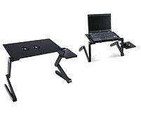 Стол для ноутбука с охлаждением с подставкой для мышки Laptop table T8, фото 3