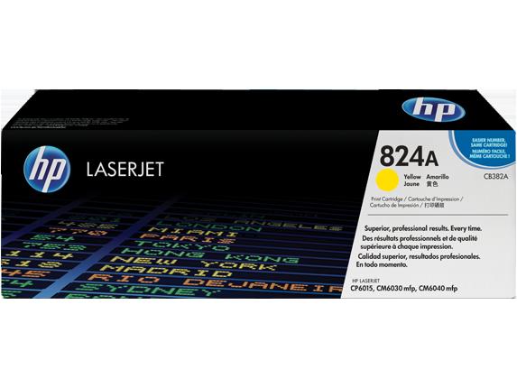 HP CB382A Картридж лазерный HP 824A желтый, ресурс 21000 стр
